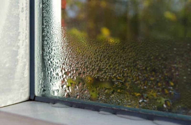 High humidity on a house window