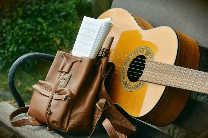 An Acoustic Guitar In Good Working Condition